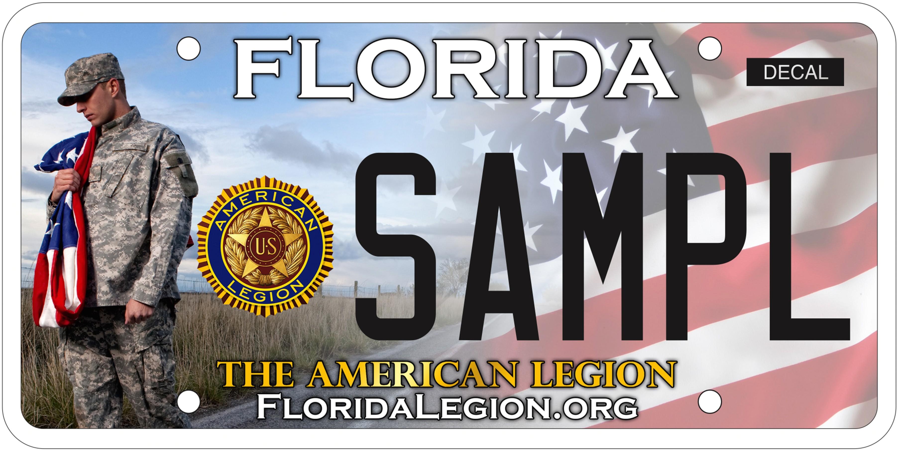 License Plate Florida American Legion