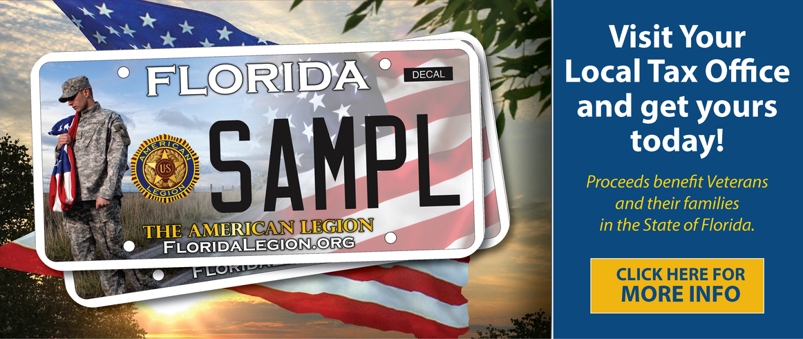The American Legion, Department of Florida License Plate