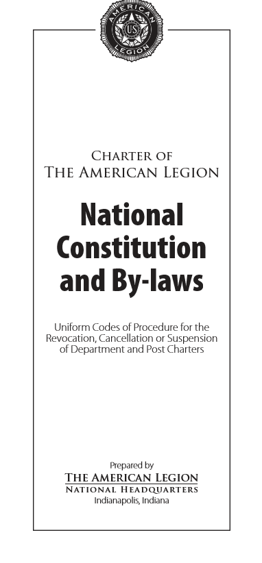 National Constitution and By-laws