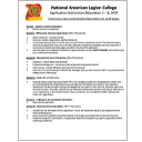 National Legion College Application
