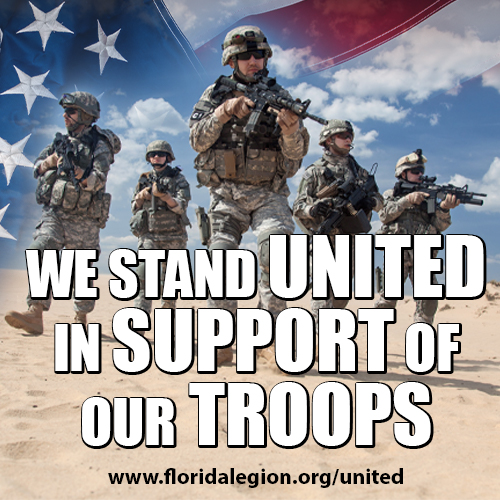 We Stand United in Support of Our Troops