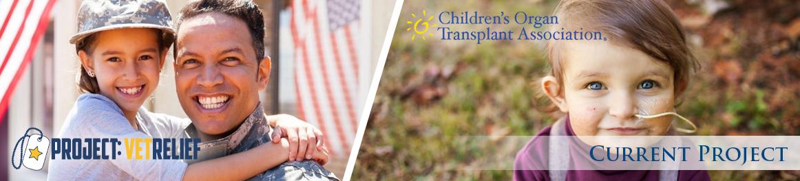 PROJECT: VetRelief and Children's Organ Transplant Association