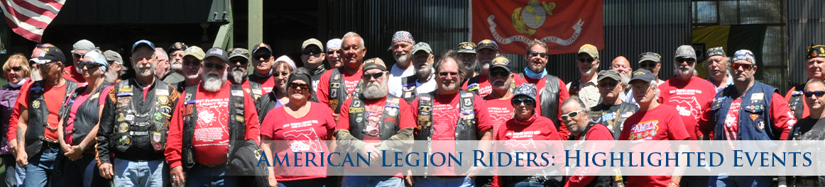 American Legion Riders: Highlighted Events