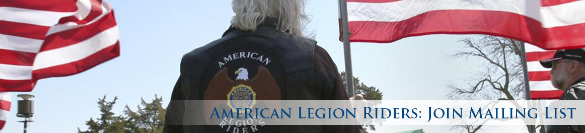 American Legion Riders: Join Mailing List