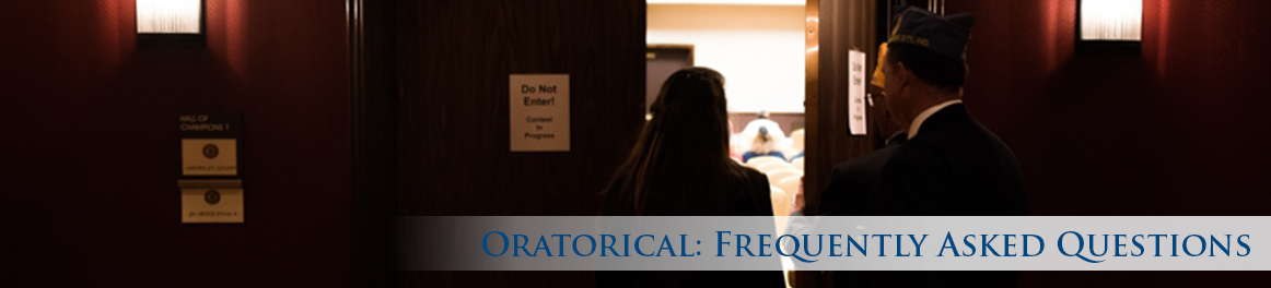 Oratorical: Frequently Asked Questions