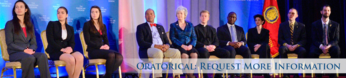 Oratorical: Request More Information