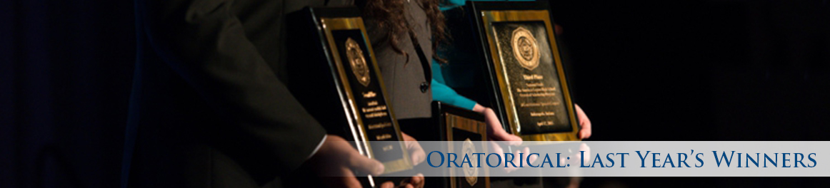 Oratorical: Last Year's Winners