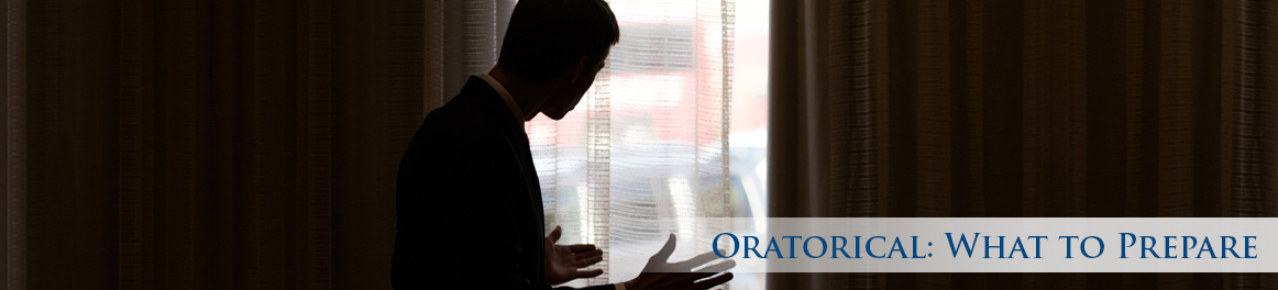 Oratorical: What to Prepare