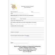 Area Monthly Activities Report